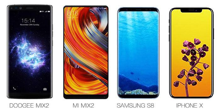 DOOGEE MIX 2 comparativa pantallas