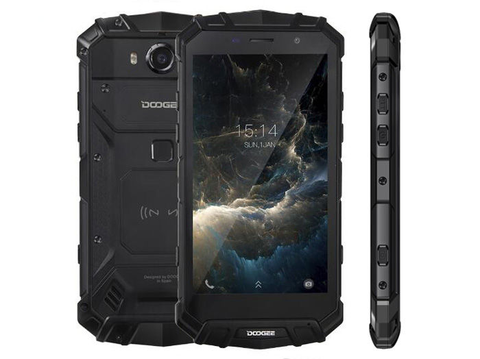 DOOGEE S60 negro frontal trasera lateral