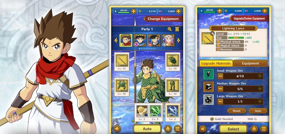dragon quest dai adventure armas equipamiento