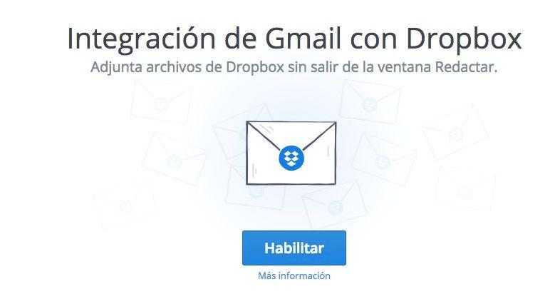 dropbox para gmail