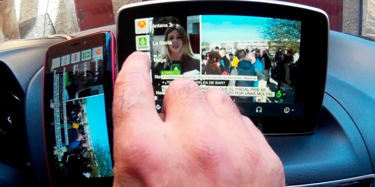 duplicar pantalla Android Auto AA Mirror Plus