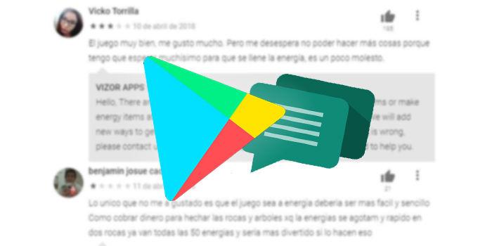 editar resena google play ver cambios