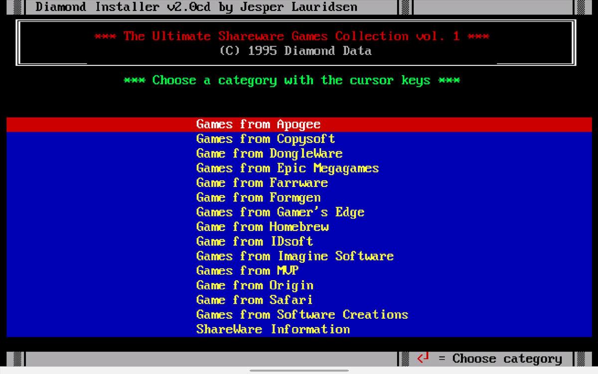 ejecutar imágenes de disco de juegos MS-DOS en Chrome OS