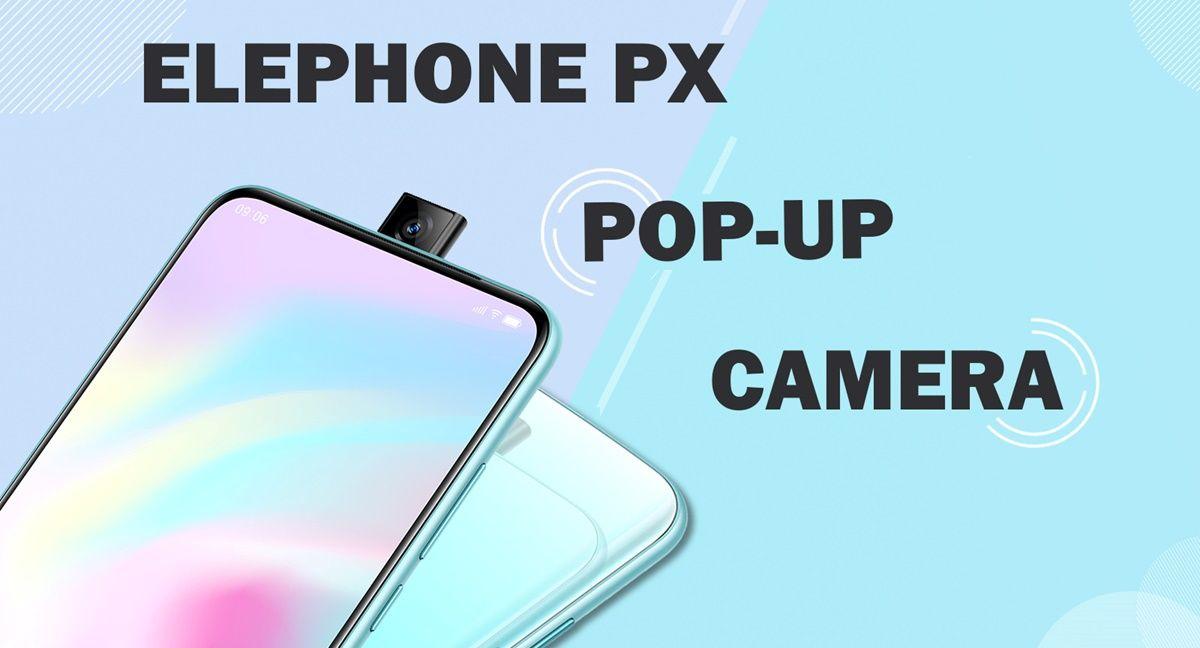 elephone px pop up camara