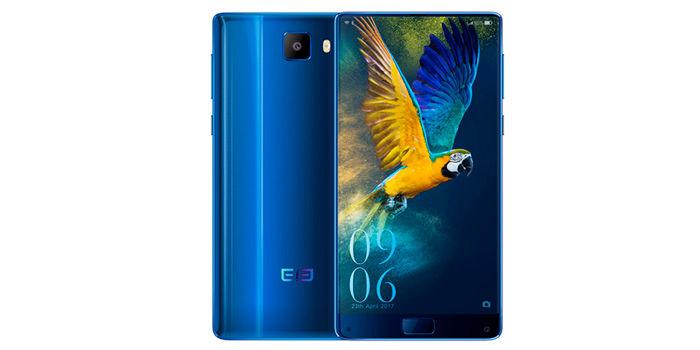 Elephone S8 azul frontal trasera