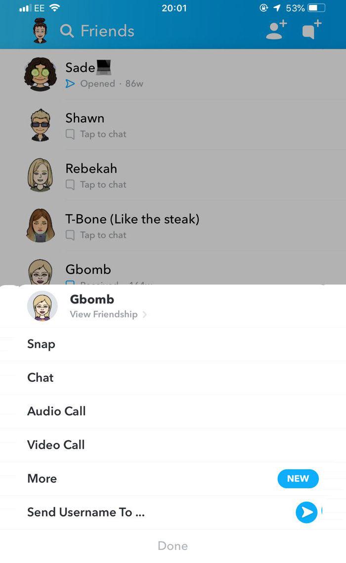 eliminar amigos snapchat