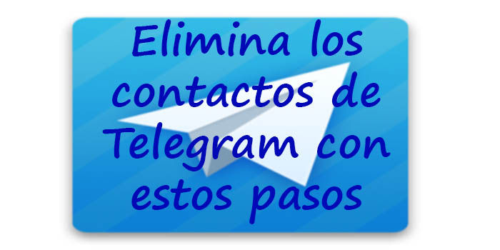 eliminar contactos de telegram