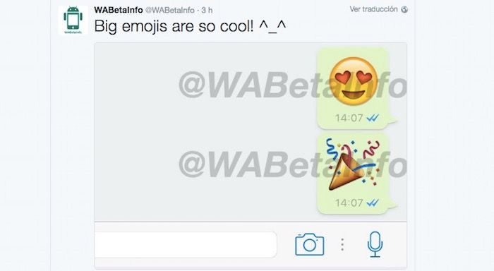 emojis gigantes en WhatsApp