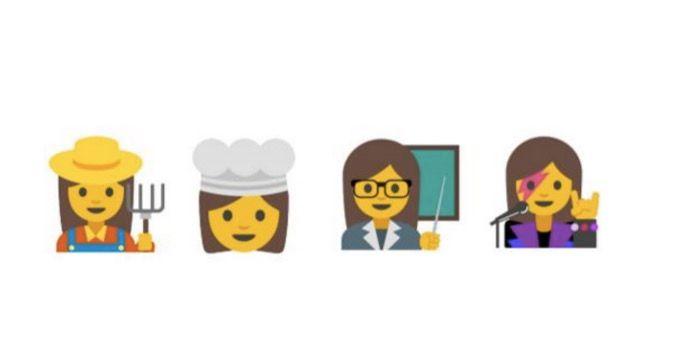 emojis mujeres google