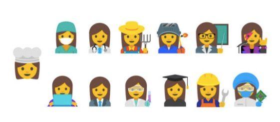 emojis mujeres nuevos