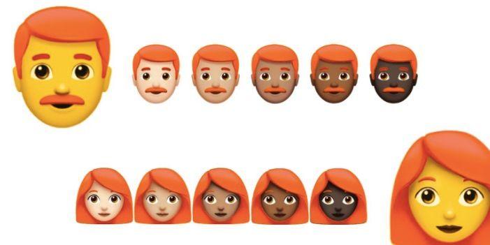 emojis pelo rojo