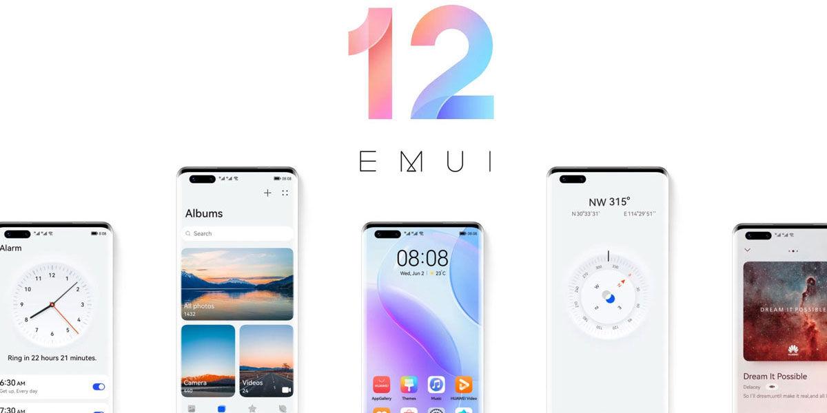 EMUI 12 disponible para los Huawei