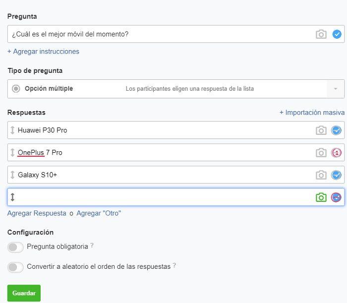 encuesta facebook 2 opciones