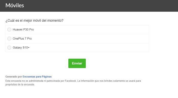 encuesta facebook