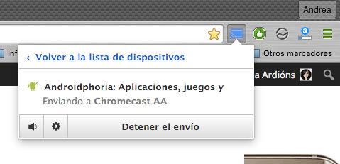enviar pestaña nuevo chromecast de google