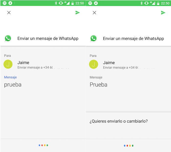 enviar whatsapps google assistant