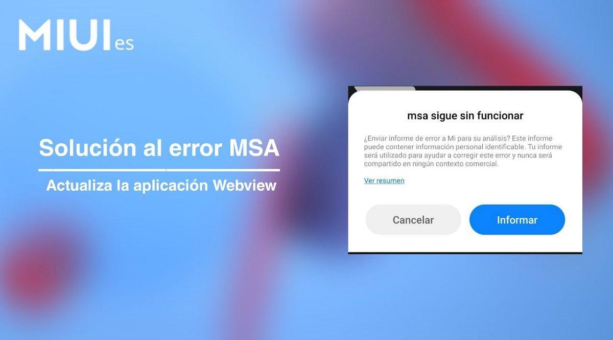 error MSA