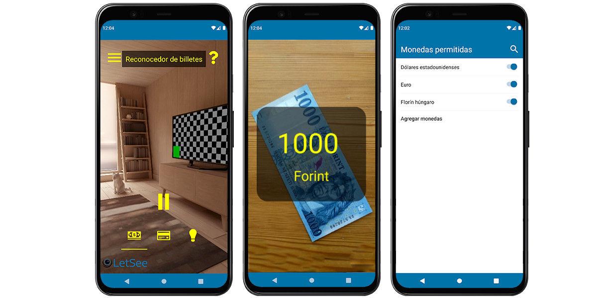 escanear reconocer billete móvil android letseeapp