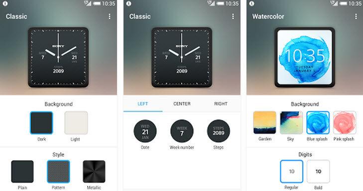 esferas para el smartwatch 3