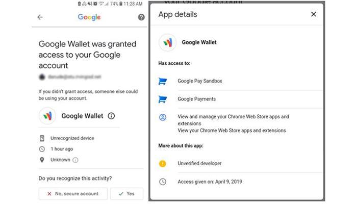 estafa de google wallet