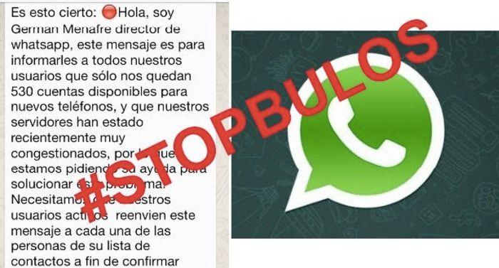 estafa whatsapp tras la caida