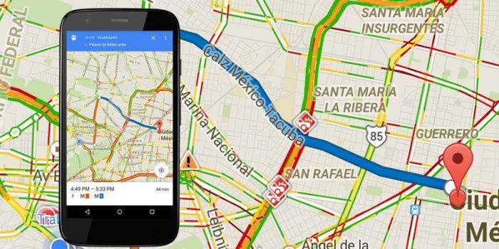 evitar nombre calles google maps