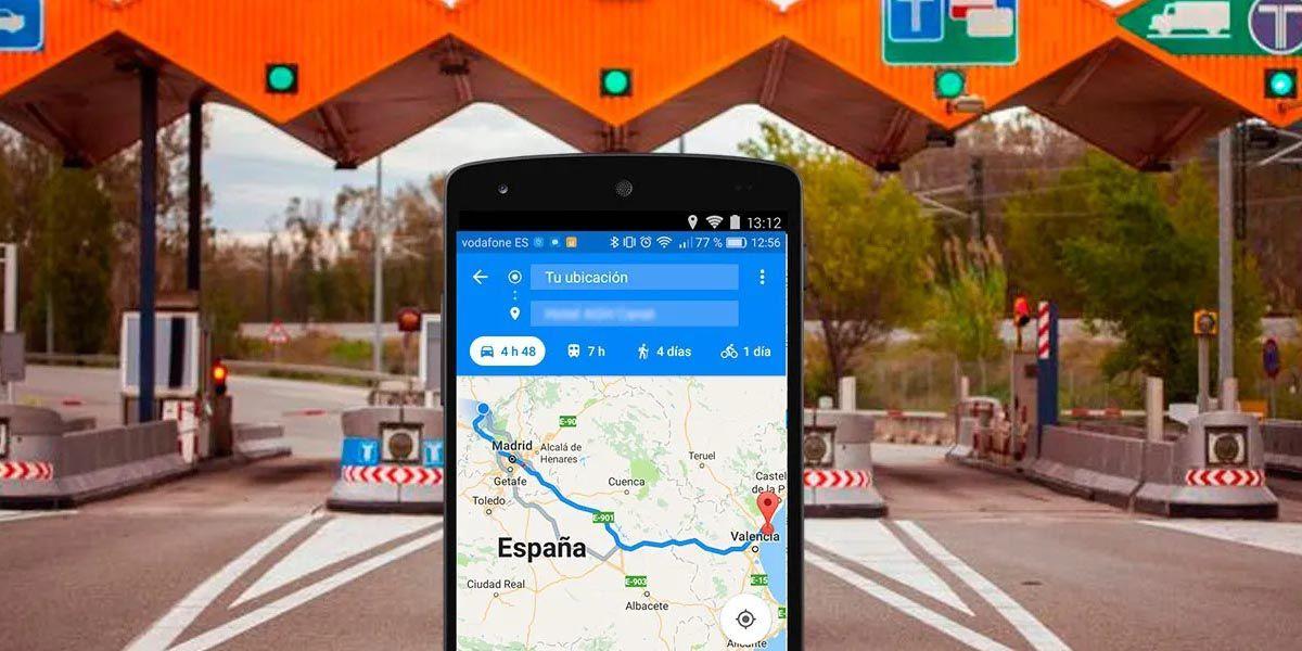 evitar peajes google maps