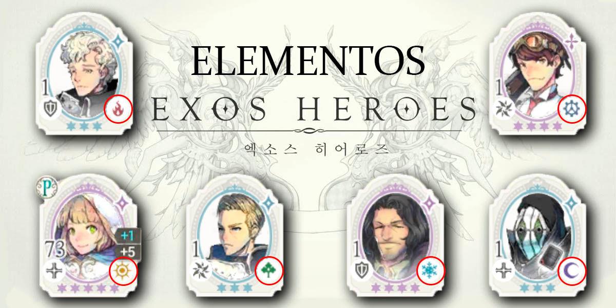 exos heroes elementos de personaje para ganar contenedores de maná