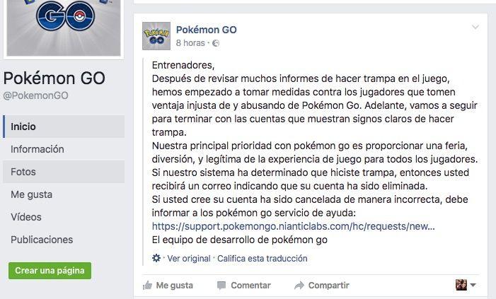 expulsiones pokemon go