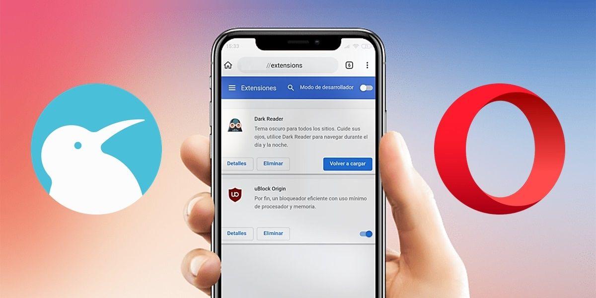 extensiones de opera en kiwi browser android