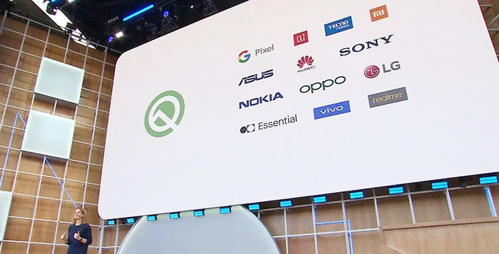 fabricantes compatibles con android q