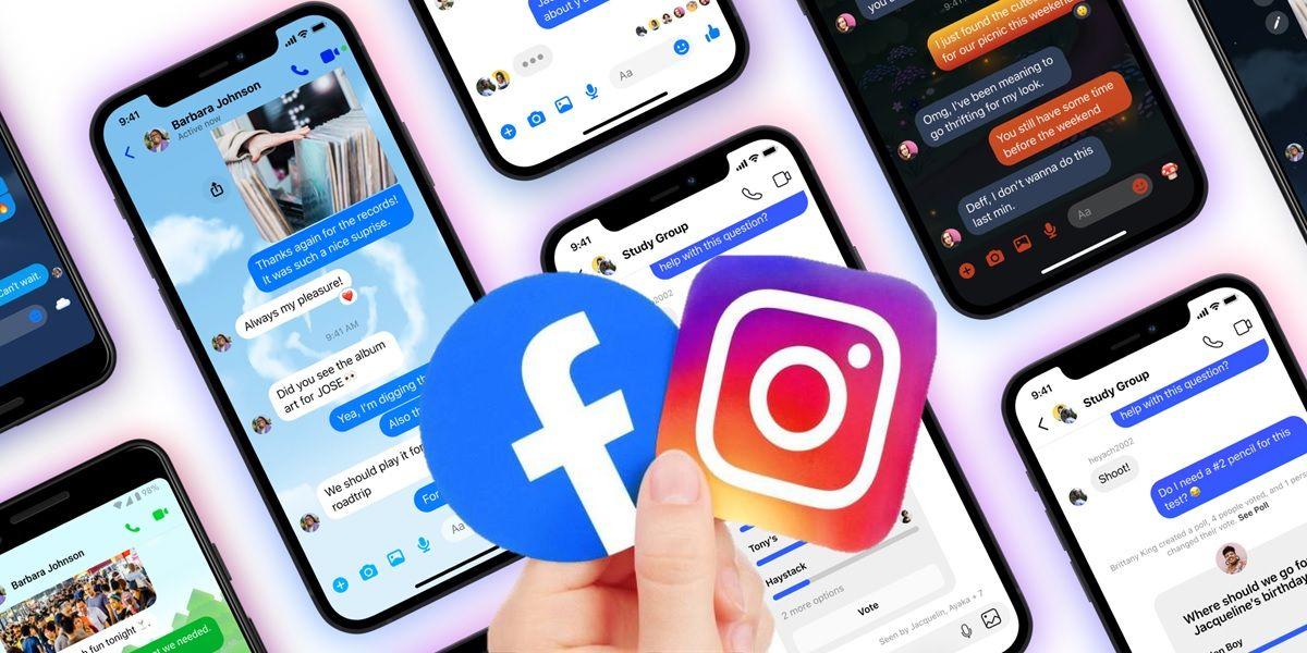 facebook instagram chat grupales