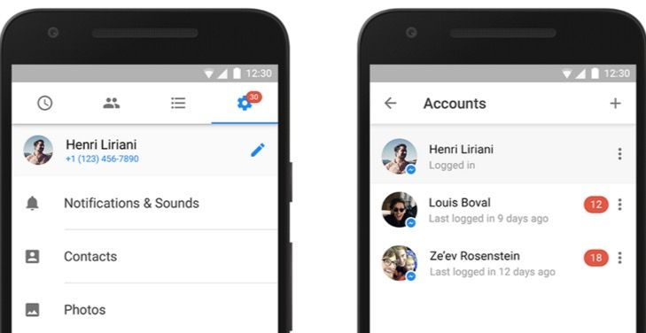 facebook messenger multiples cuentas android