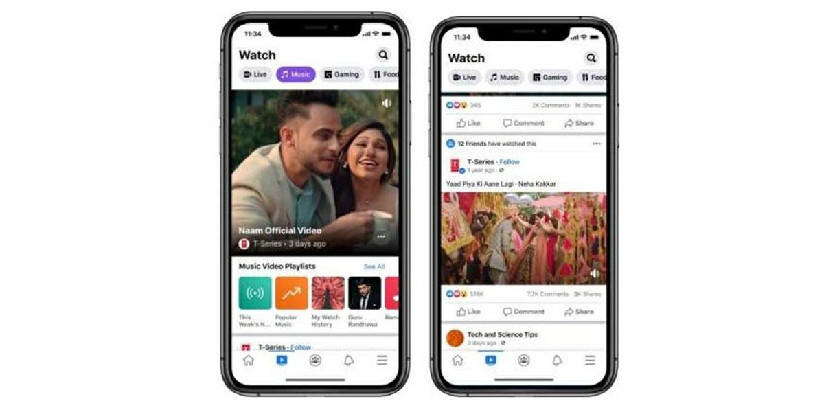 facebook recomendara videos musicales