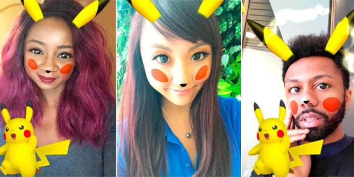 filtro de pikachu en snapchat