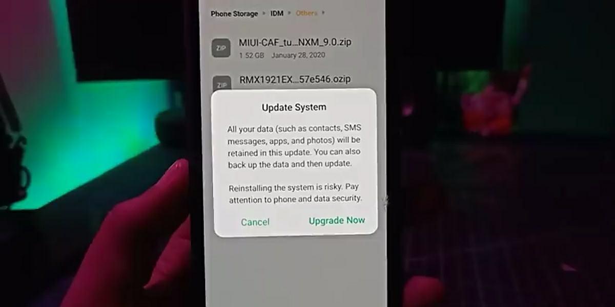 forzar la instalacion de una actualizacion de android en realme