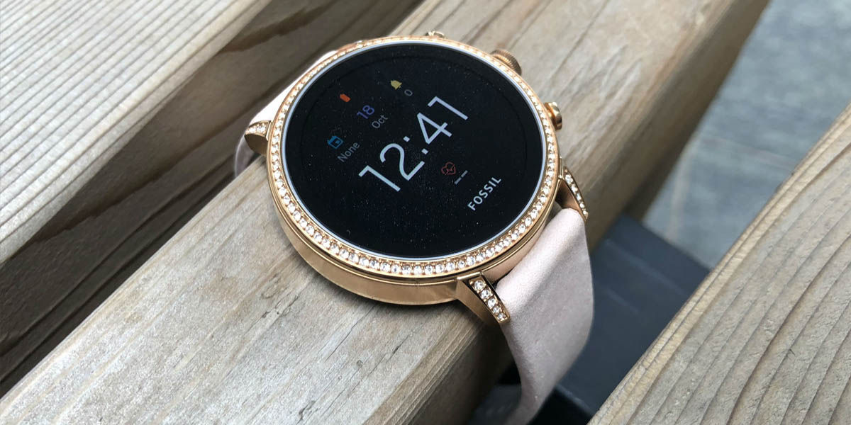 fossil venture hr smartwatch compacto chica con wear os