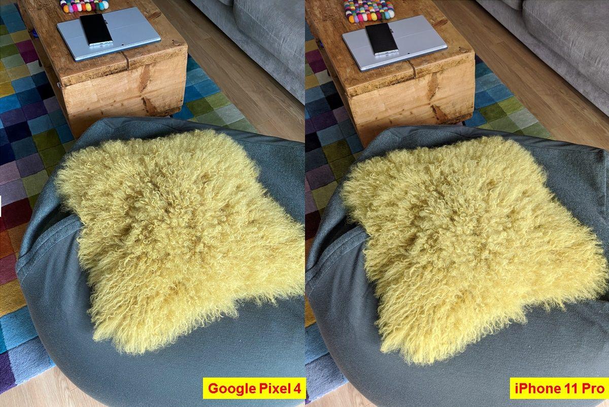 foto cojin iphone 11 pro vs google pixel 4