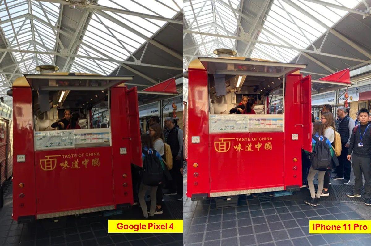 foto comida rapida iphone 11 pro vs google pixel 4