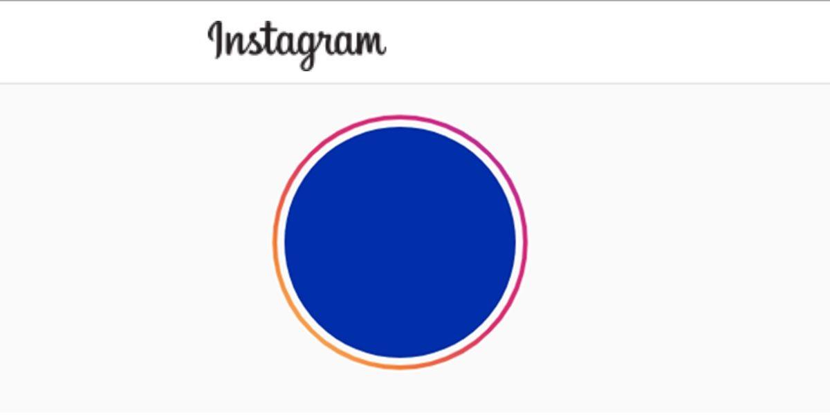 foto de perfil azul instagram