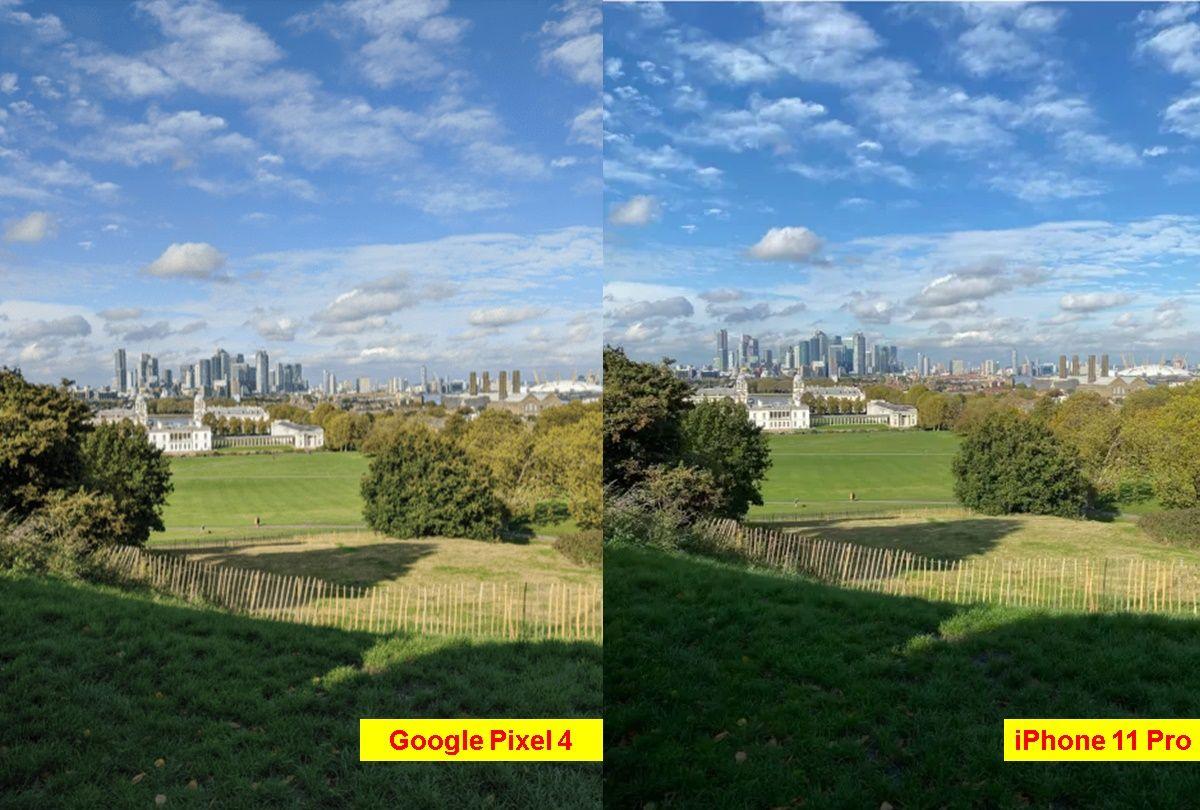 foto parque iphone 11 pro vs google pixel 4