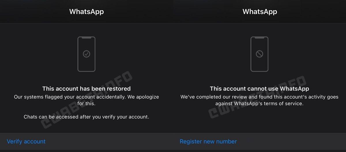 funcion de whatsapp beta para reclamar cuenta baneada 1
