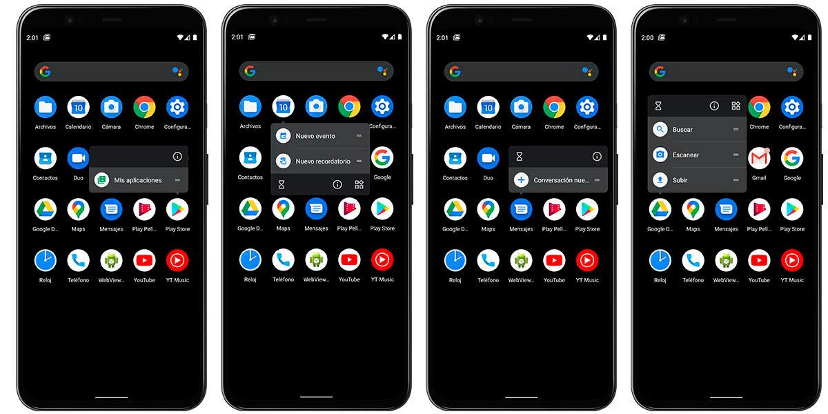 funciones rápidas desde accesos directos android