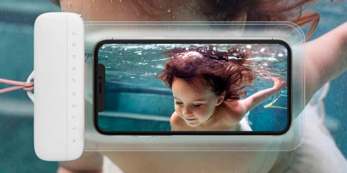 funda sumergible xiaomi para fotografía móvil bajo el agua