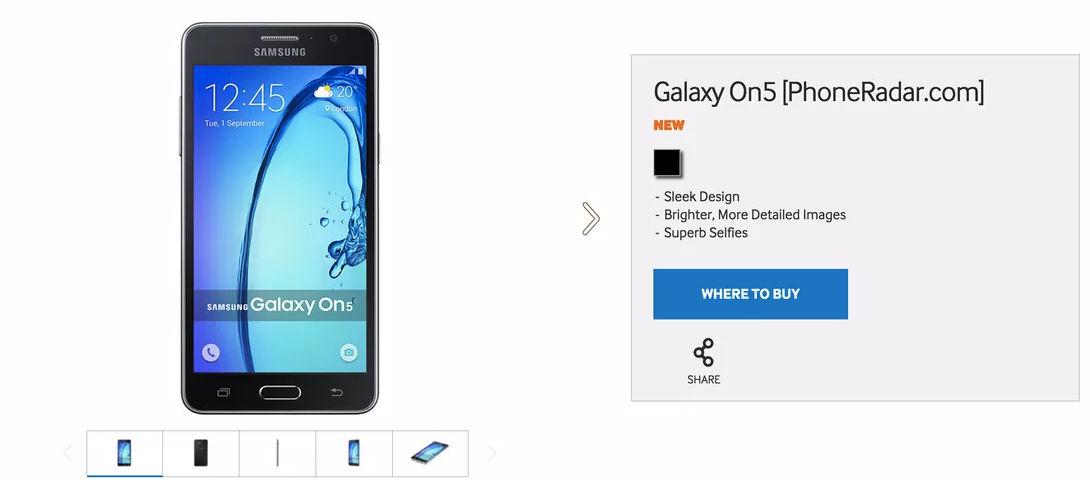 galaxy on5 lanzamiento y precio