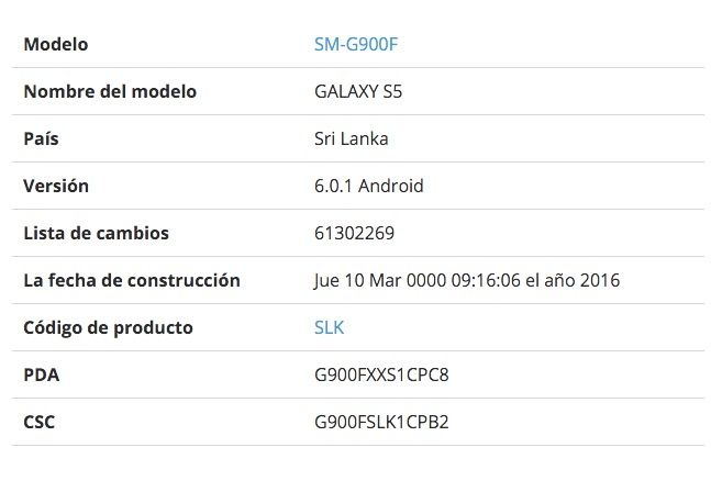 galaxy s5 marshmallow