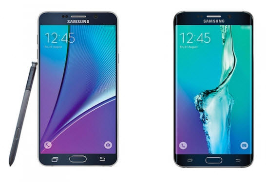 galay note 5 vs galaxy s6 edge plus1