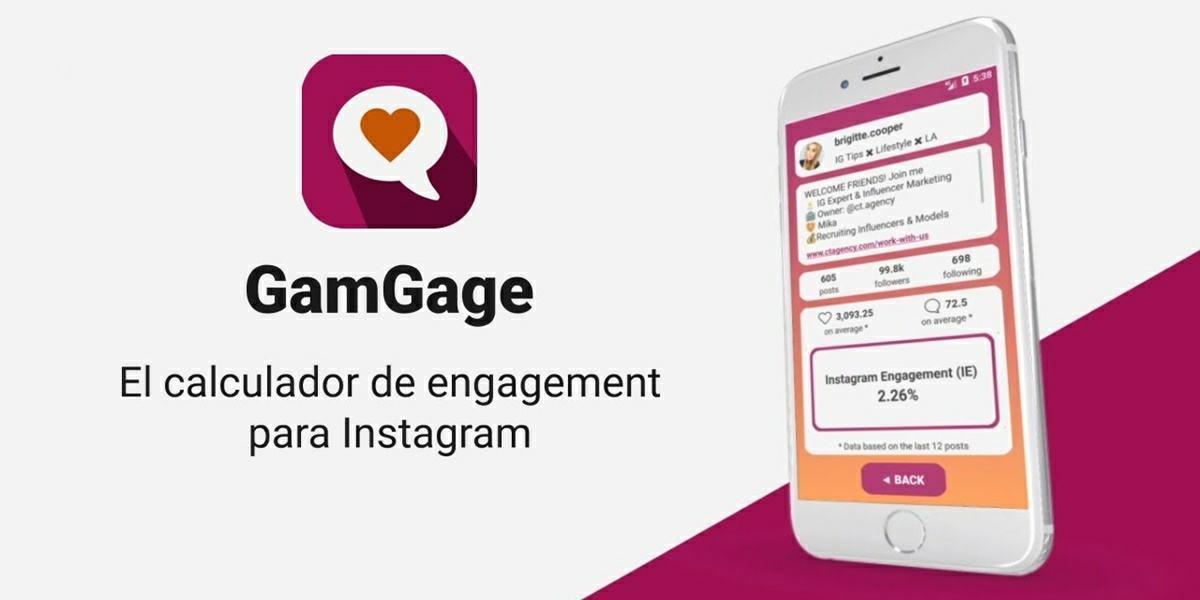 gamgage app para saber si seguidores de instagram son falsos