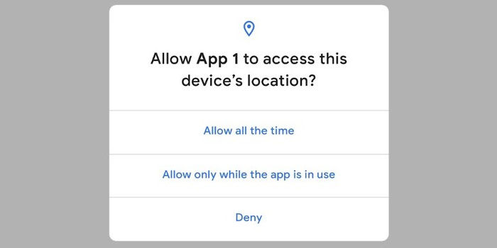 gestion localizacion android q