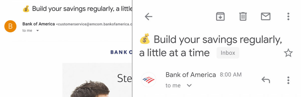 Gmail logotipos empresas verificados